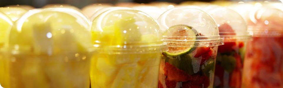 Frischekick mit gesunden leckeren Früchten der Saision