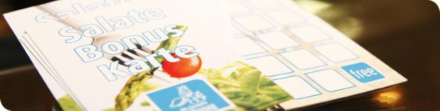 Salat-Bonuskarte – jeder 15. Salat gratis